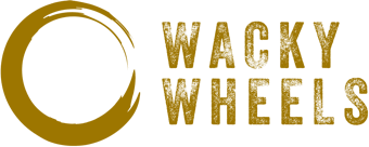 Wacky Wheels logo brown